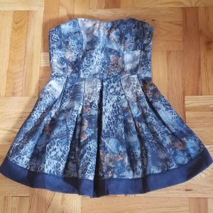Lucca Couture Demin Floral Print Dress
